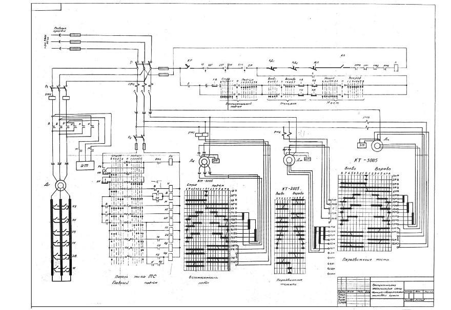принципиальная электрическая схема мостового крана